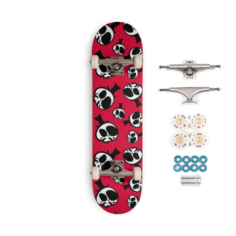 Skull with mustache Accessories Complete - Premium Skateboard by cindyshim's Artist Shop