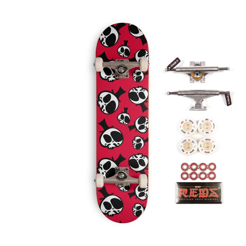 Skull with mustache Accessories Complete - Pro Skateboard by cindyshim's Artist Shop