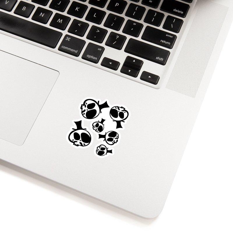 Skull with mustache Accessories Sticker by cindyshim's Artist Shop