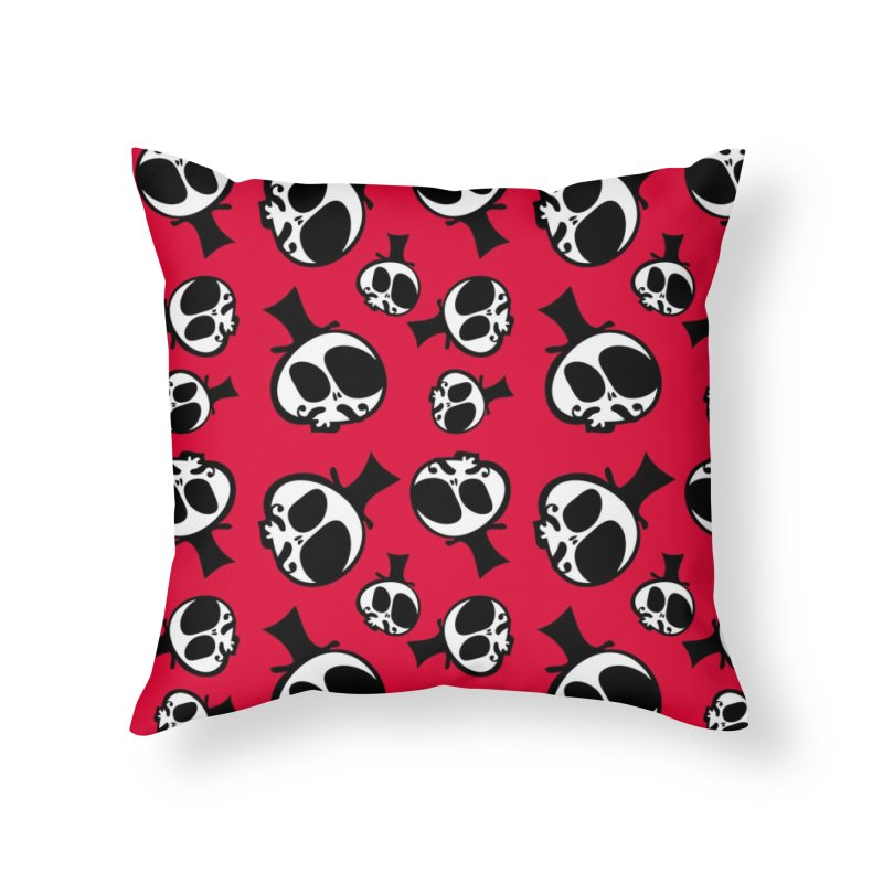 Skull with mustache Home Throw Pillow by cindyshim's Artist Shop