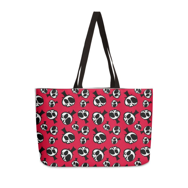 Skull with mustache Accessories Weekender Bag Bag by cindyshim's Artist Shop
