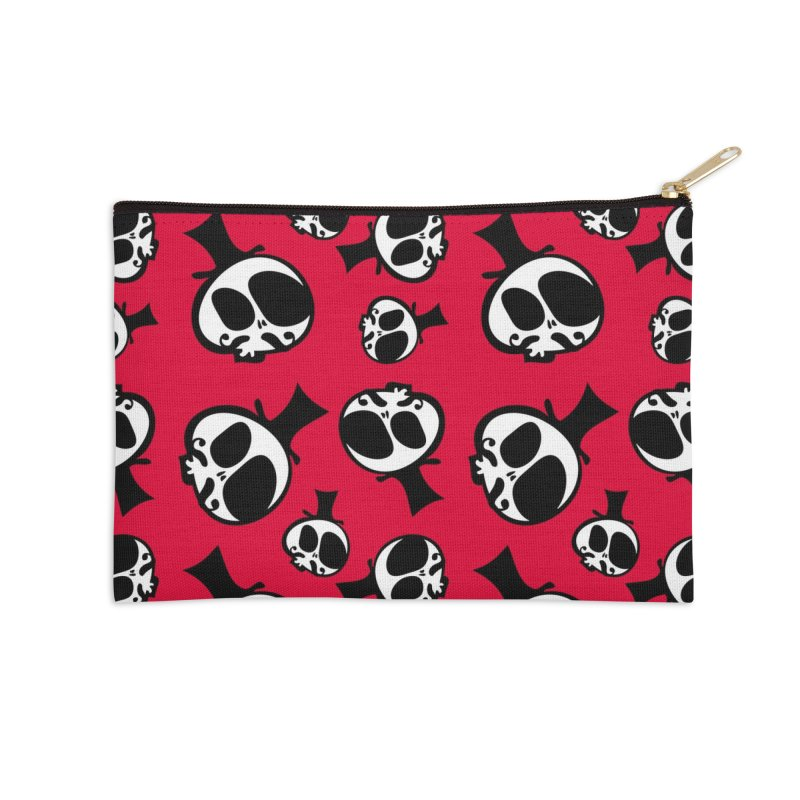 Skull with mustache Accessories Zip Pouch by cindyshim's Artist Shop