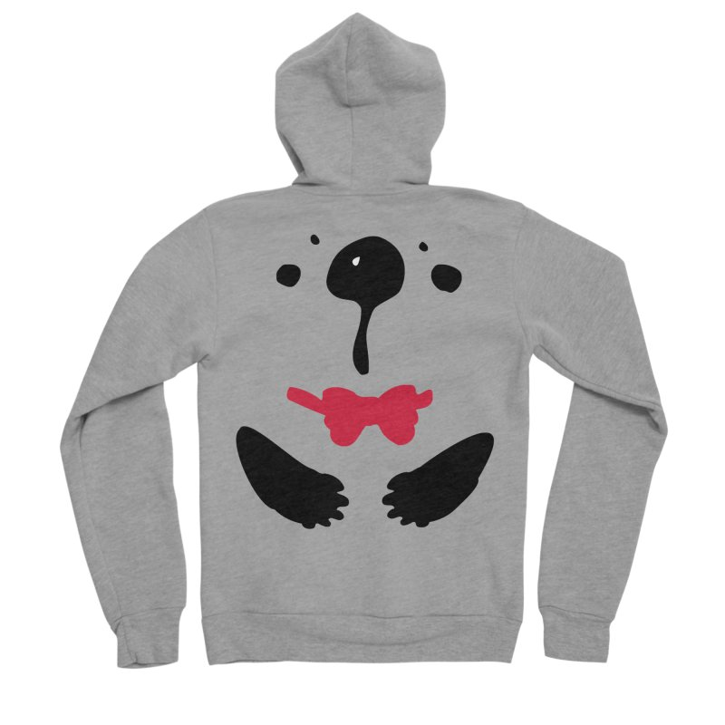 Panda Bear Women's Sponge Fleece Zip-Up Hoody by cindyshim's Artist Shop