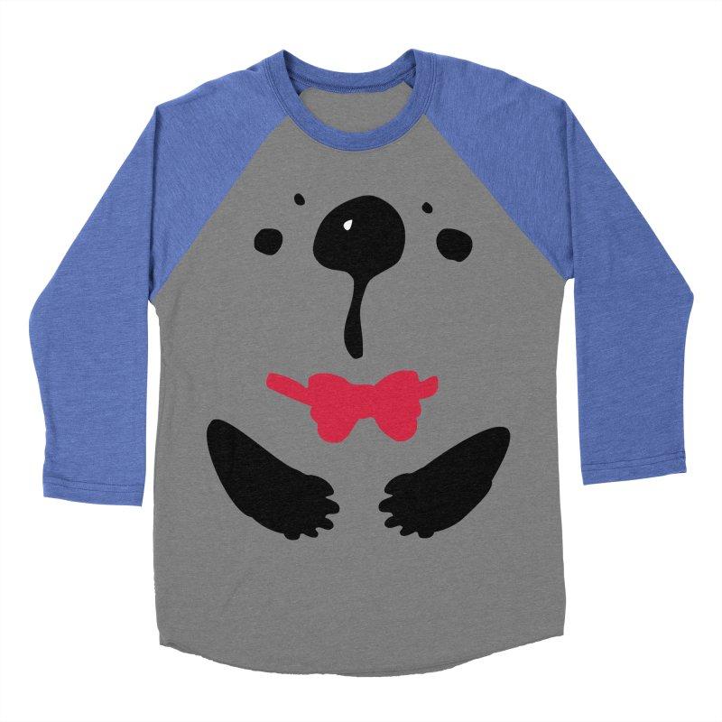 Panda Bear Men's Baseball Triblend Longsleeve T-Shirt by cindyshim's Artist Shop