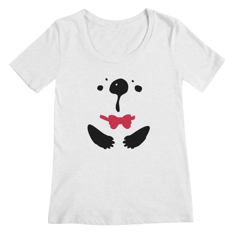 Panda Bear Women's Regular Scoop Neck by cindyshim's Artist Shop