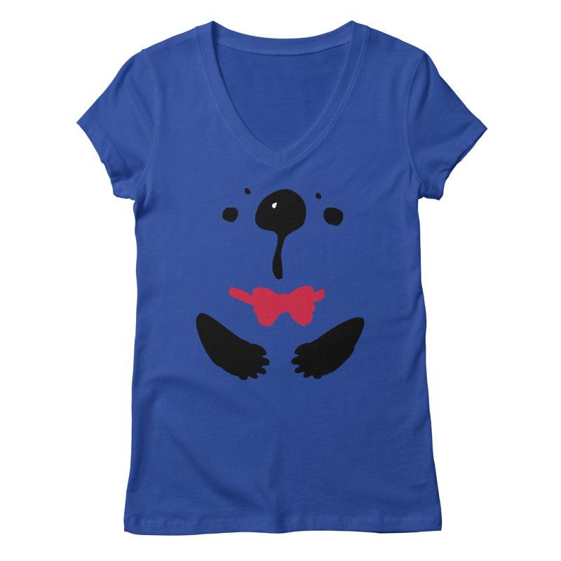 Panda Bear Women's Regular V-Neck by cindyshim's Artist Shop