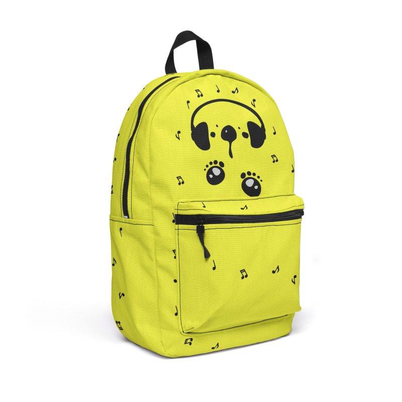 Panda bear love music Accessories Backpack Bag by cindyshim's Artist Shop