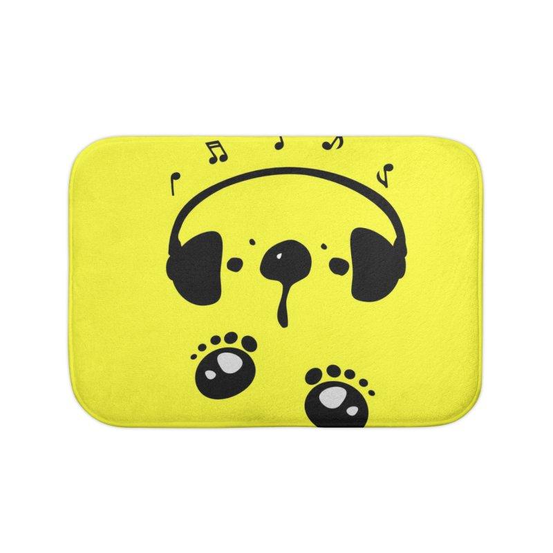 Panda bear love music Home Bath Mat by cindyshim's Artist Shop