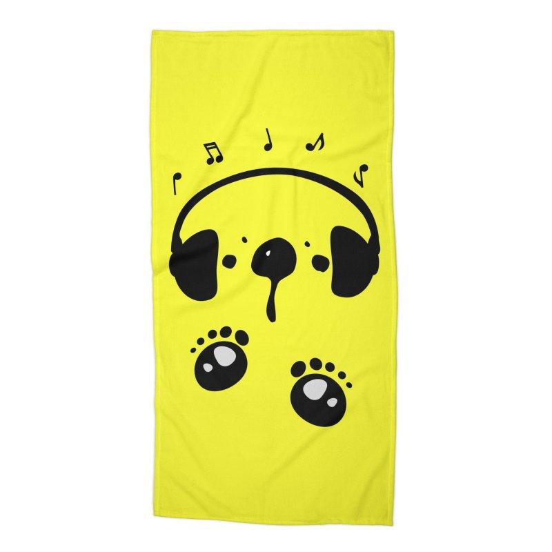 Panda bear love music Accessories Beach Towel by cindyshim's Artist Shop