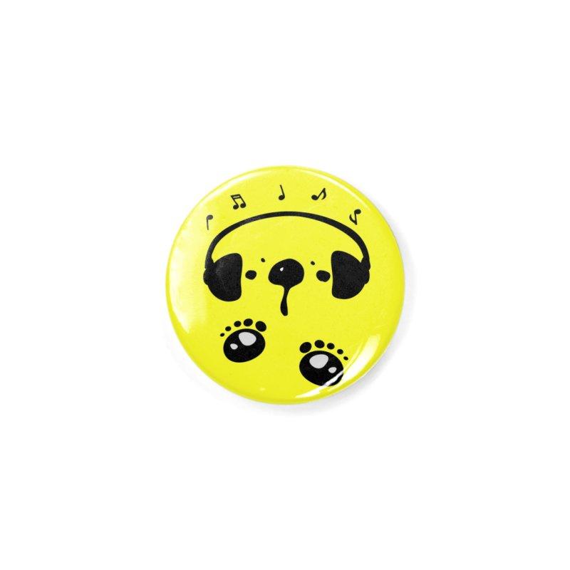 Panda bear love music Accessories Button by cindyshim's Artist Shop