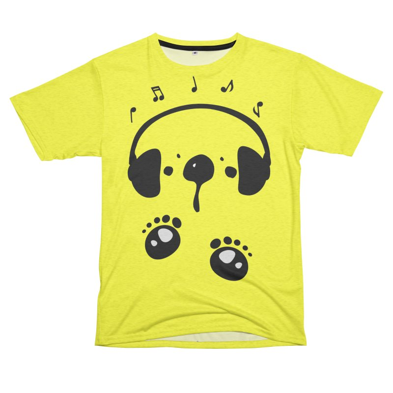 Panda bear love music Women's Unisex French Terry T-Shirt Cut & Sew by cindyshim's Artist Shop