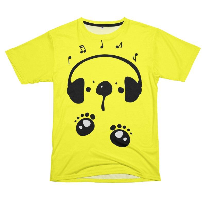 Panda bear love music Women's Unisex T-Shirt Cut & Sew by cindyshim's Artist Shop
