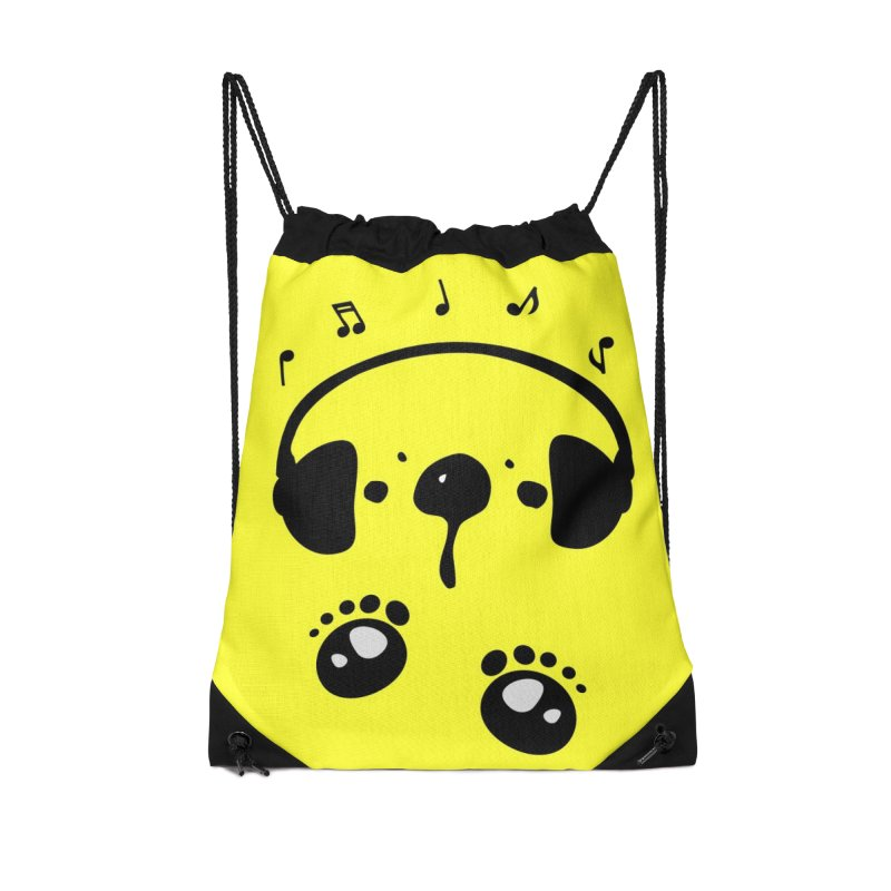 Panda bear love music Accessories Drawstring Bag Bag by cindyshim's Artist Shop