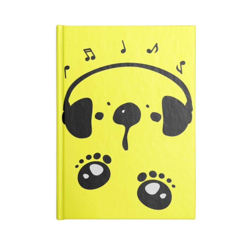 Panda bear love music Accessories Blank Journal Notebook by cindyshim's Artist Shop