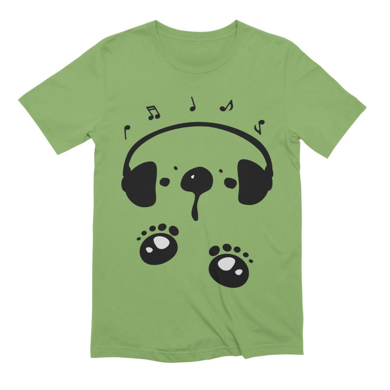 Panda bear love music Men's Extra Soft T-Shirt by cindyshim's Artist Shop
