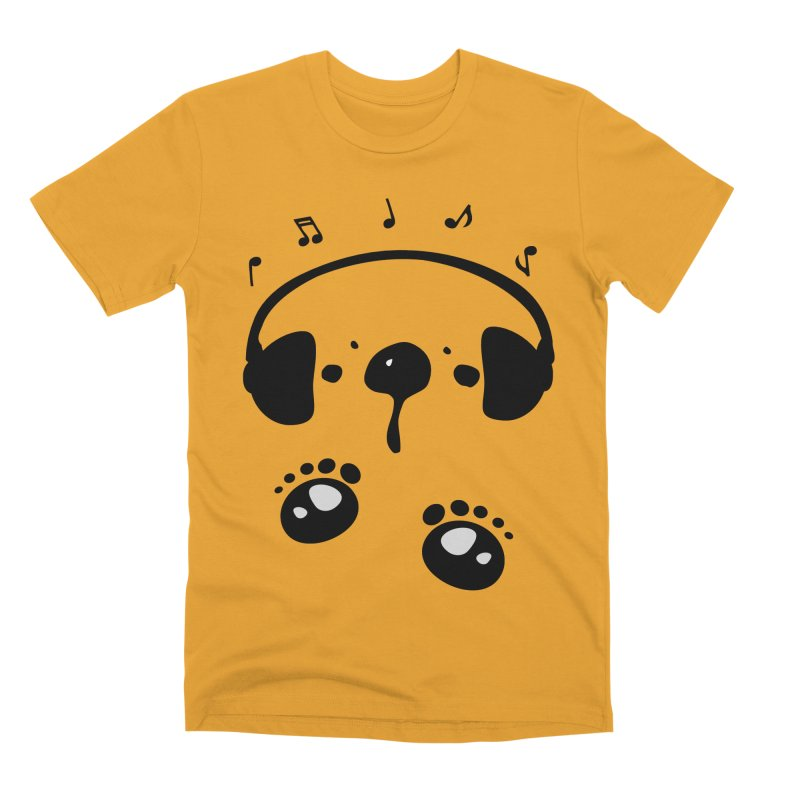 Panda bear love music Men's Premium T-Shirt by cindyshim's Artist Shop