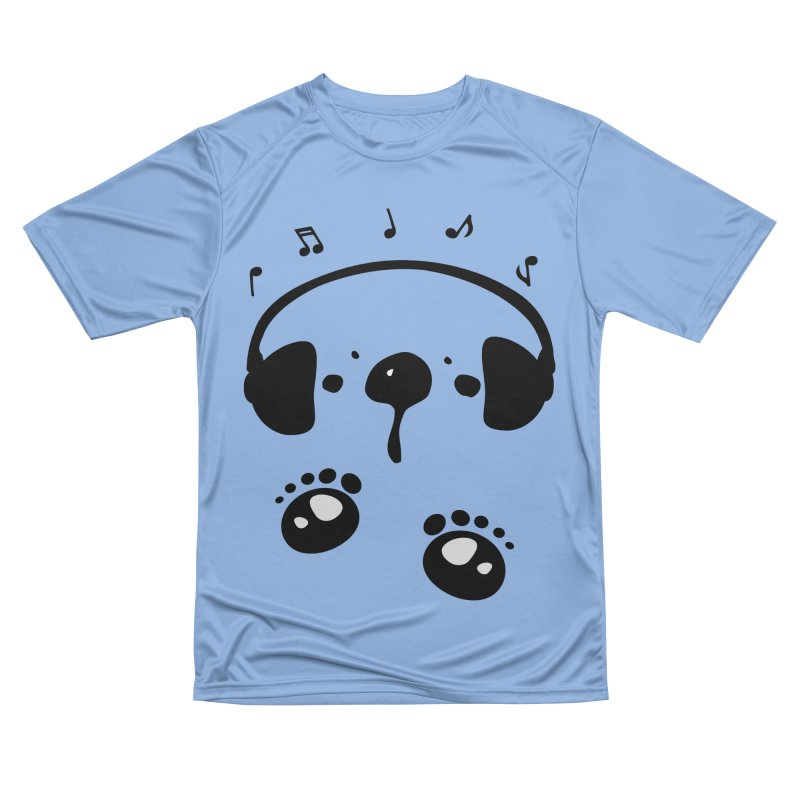 Panda bear love music Women's Performance Unisex T-Shirt by cindyshim's Artist Shop