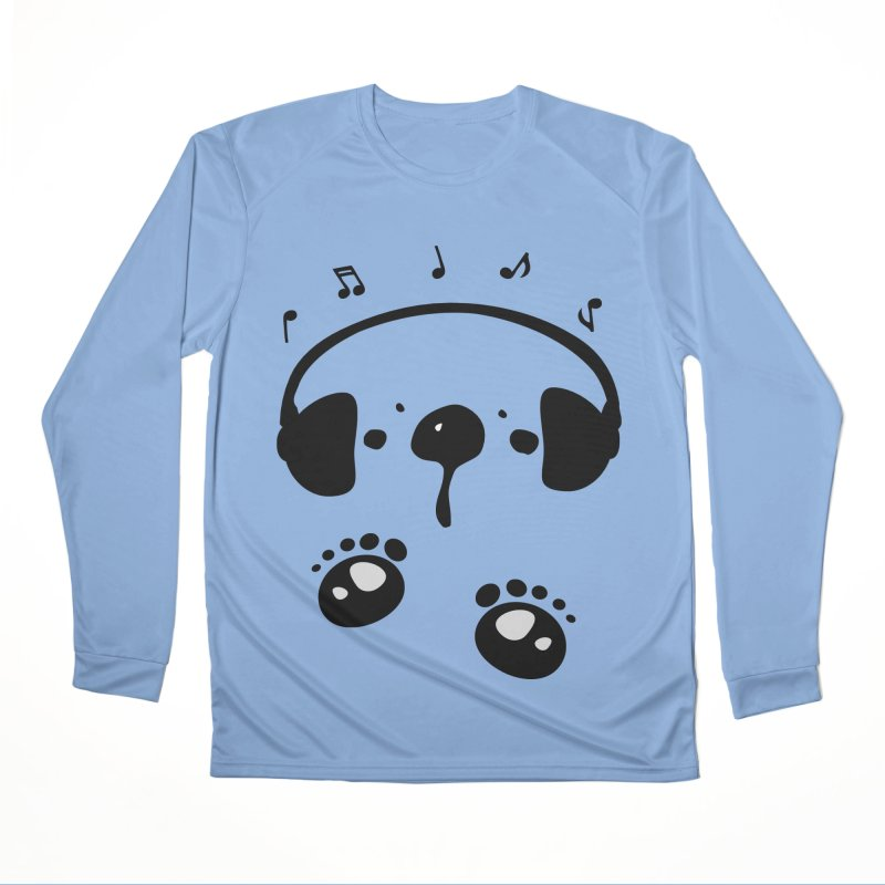 Panda bear love music Women's Performance Unisex Longsleeve T-Shirt by cindyshim's Artist Shop