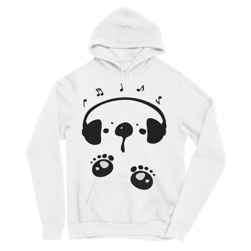Panda bear love music Men's Sponge Fleece Pullover Hoody by cindyshim's Artist Shop