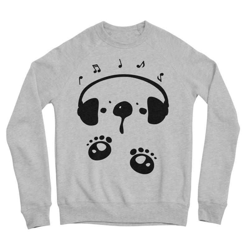 Panda bear love music Women's Sponge Fleece Sweatshirt by cindyshim's Artist Shop