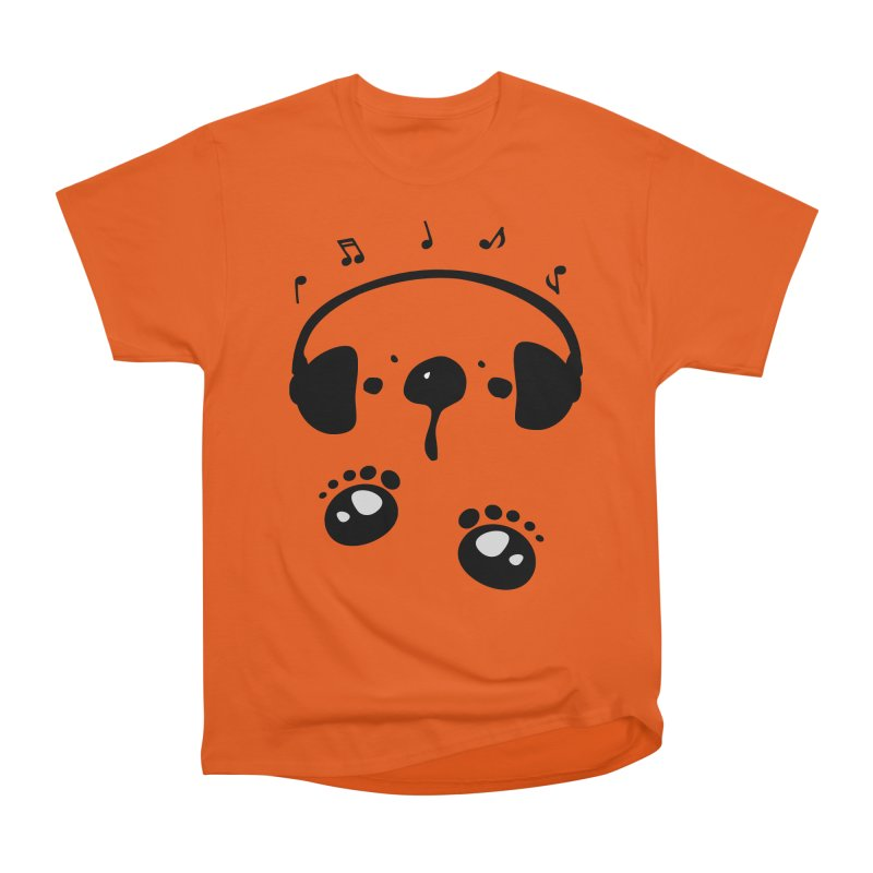 Panda bear love music Men's Heavyweight T-Shirt by cindyshim's Artist Shop