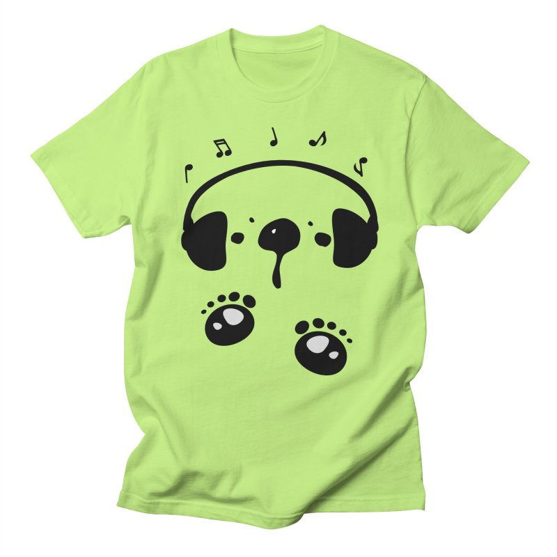 Panda bear love music Men's Regular T-Shirt by cindyshim's Artist Shop