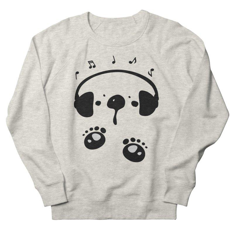 Panda bear love music Men's French Terry Sweatshirt by cindyshim's Artist Shop