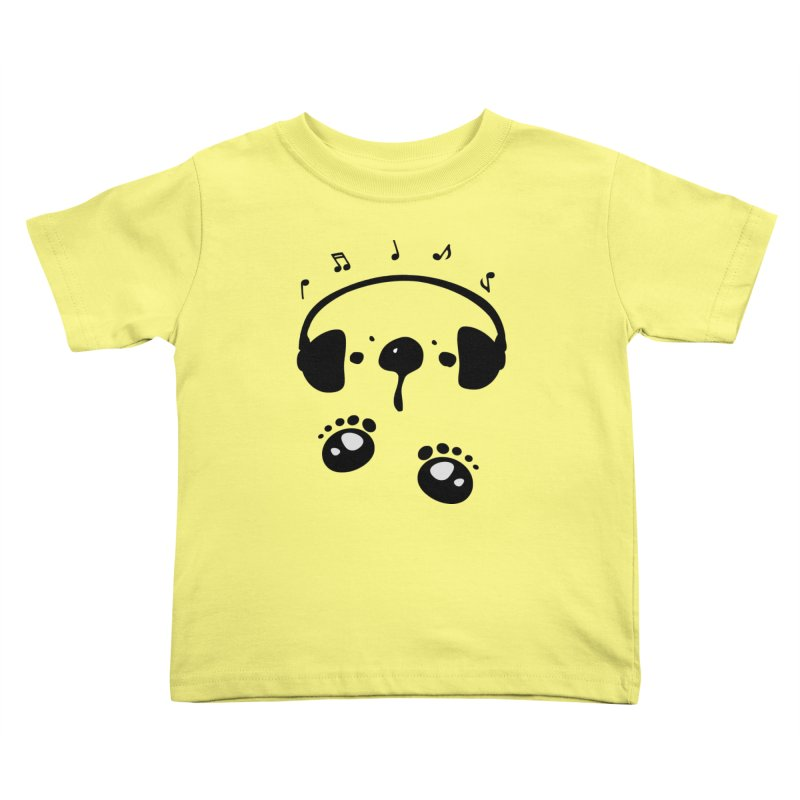 Panda bear love music Kids Toddler T-Shirt by cindyshim's Artist Shop