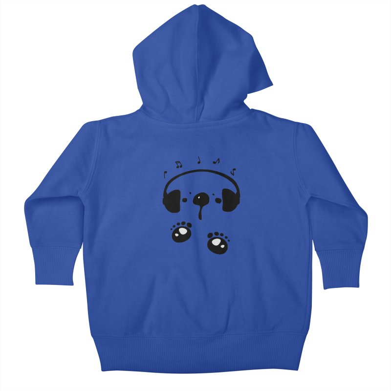Panda bear love music Kids Baby Zip-Up Hoody by cindyshim's Artist Shop