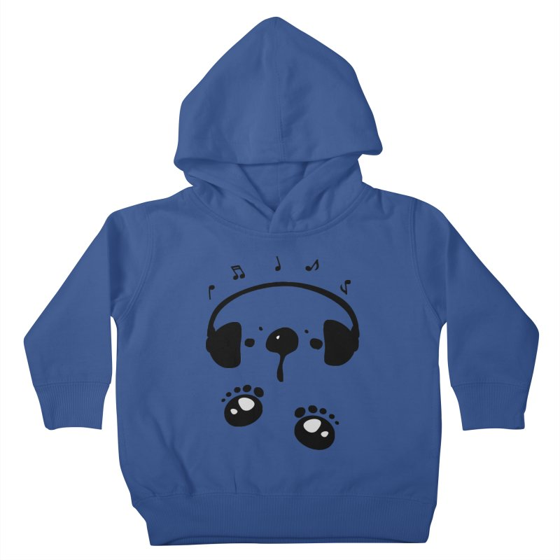 Panda bear love music Kids Toddler Pullover Hoody by cindyshim's Artist Shop