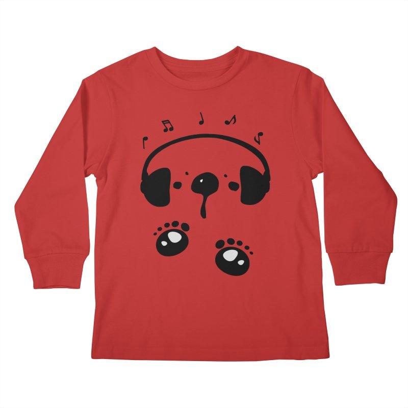Panda bear love music Kids Longsleeve T-Shirt by cindyshim's Artist Shop