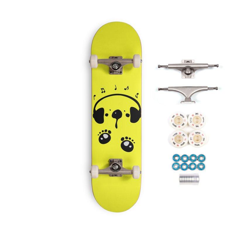 Panda bear love music Accessories Complete - Premium Skateboard by cindyshim's Artist Shop