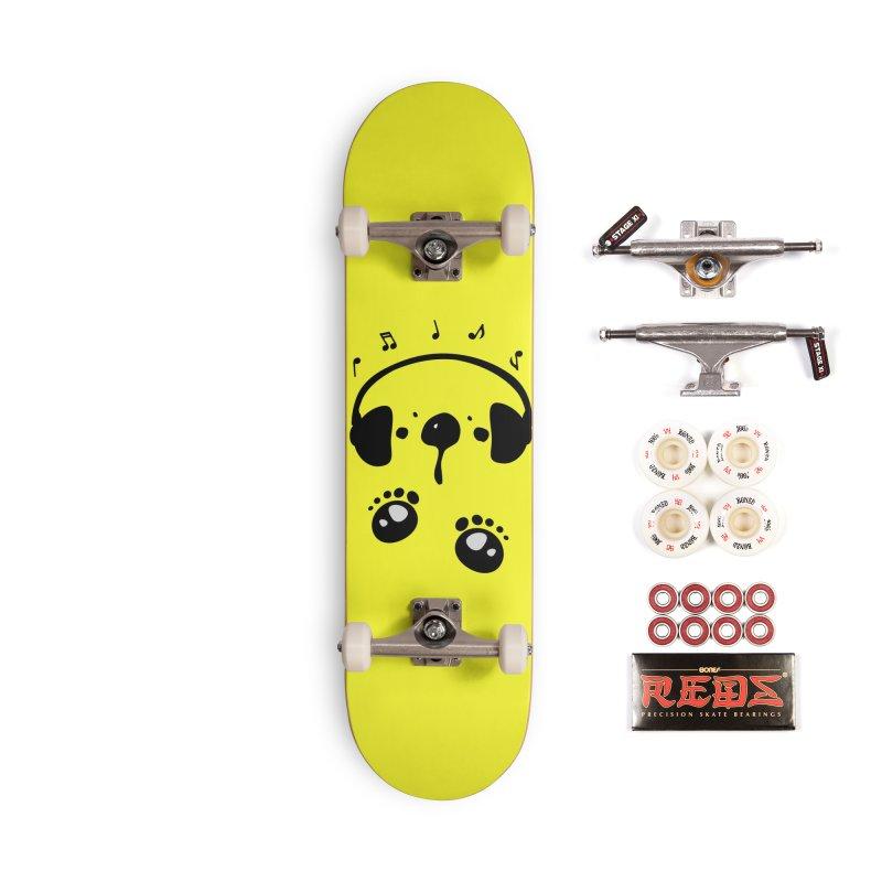 Panda bear love music Accessories Complete - Pro Skateboard by cindyshim's Artist Shop