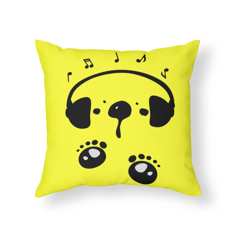 Panda bear love music Home Throw Pillow by cindyshim's Artist Shop