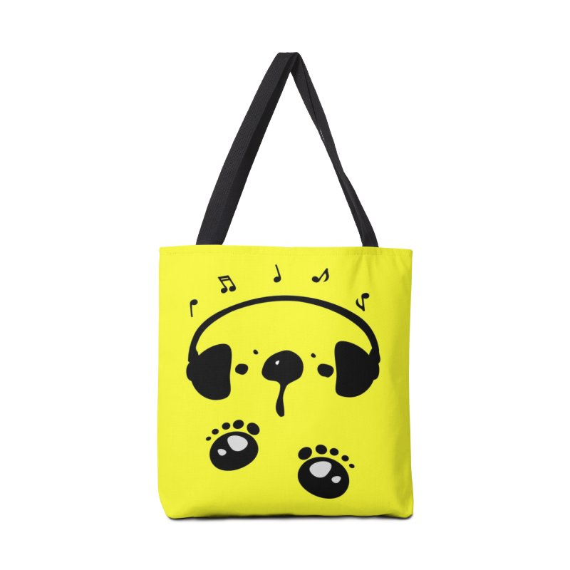 Panda bear love music Accessories Tote Bag Bag by cindyshim's Artist Shop