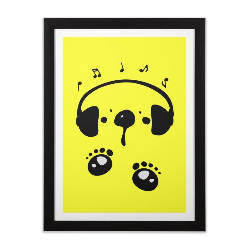 Panda bear love music Home Framed Fine Art Print by cindyshim's Artist Shop