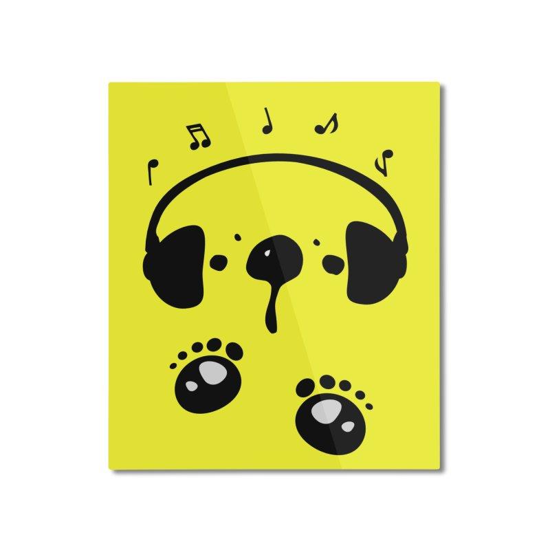 Panda bear love music Home Mounted Aluminum Print by cindyshim's Artist Shop