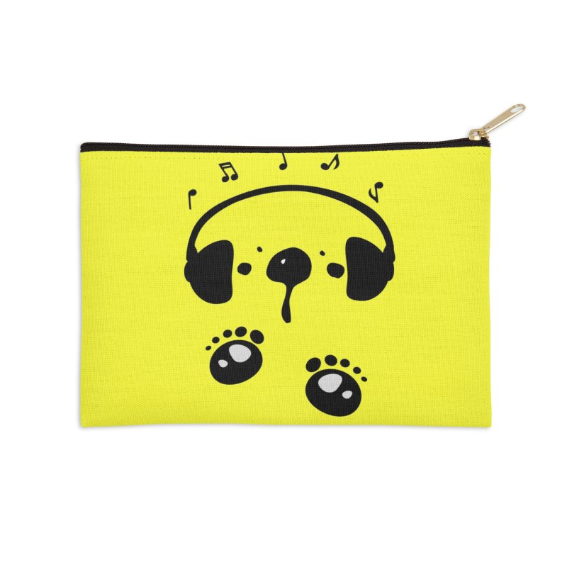 Panda bear love music Accessories Zip Pouch by cindyshim's Artist Shop