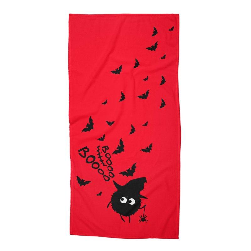 BOO BOO Halloween Accessories Beach Towel by cindyshim's Artist Shop