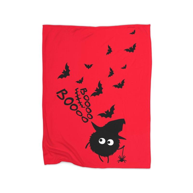 BOO BOO Halloween Home Fleece Blanket Blanket by cindyshim's Artist Shop