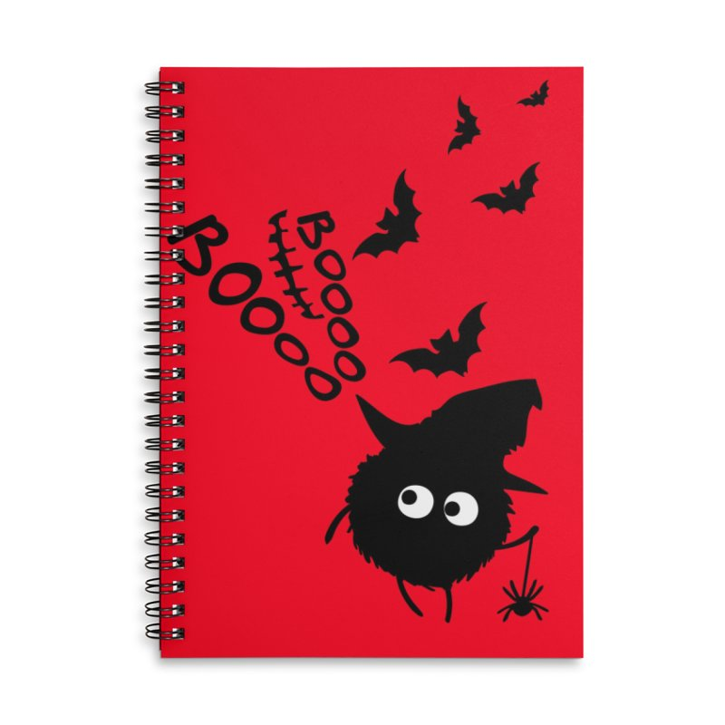 BOO BOO Halloween Accessories Lined Spiral Notebook by cindyshim's Artist Shop