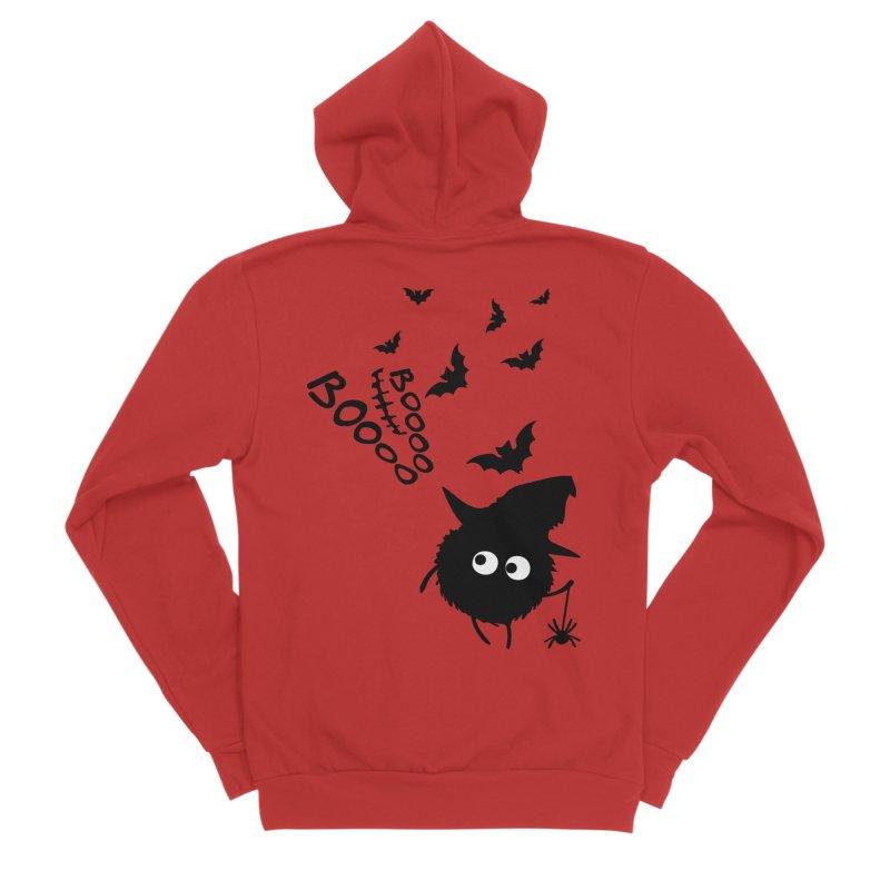 BOO BOO Halloween Men's Sponge Fleece Zip-Up Hoody by cindyshim's Artist Shop