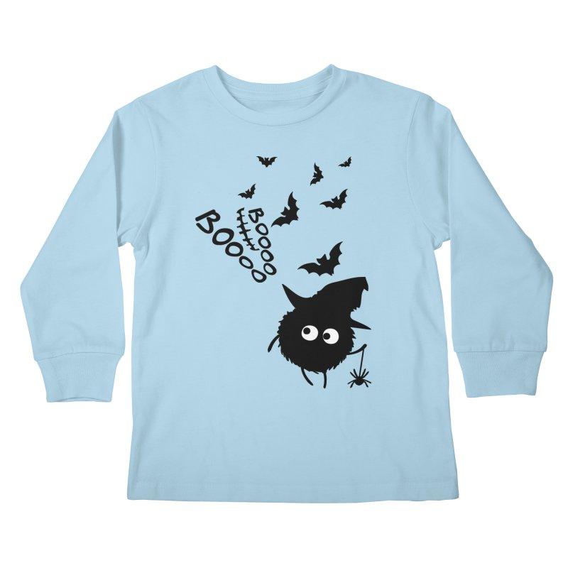 BOO BOO Halloween Kids Longsleeve T-Shirt by cindyshim's Artist Shop