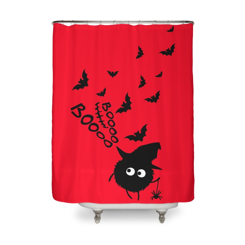BOO BOO Halloween Home Shower Curtain by cindyshim's Artist Shop