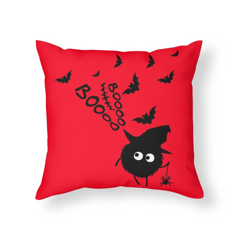 BOO BOO Halloween Home Throw Pillow by cindyshim's Artist Shop