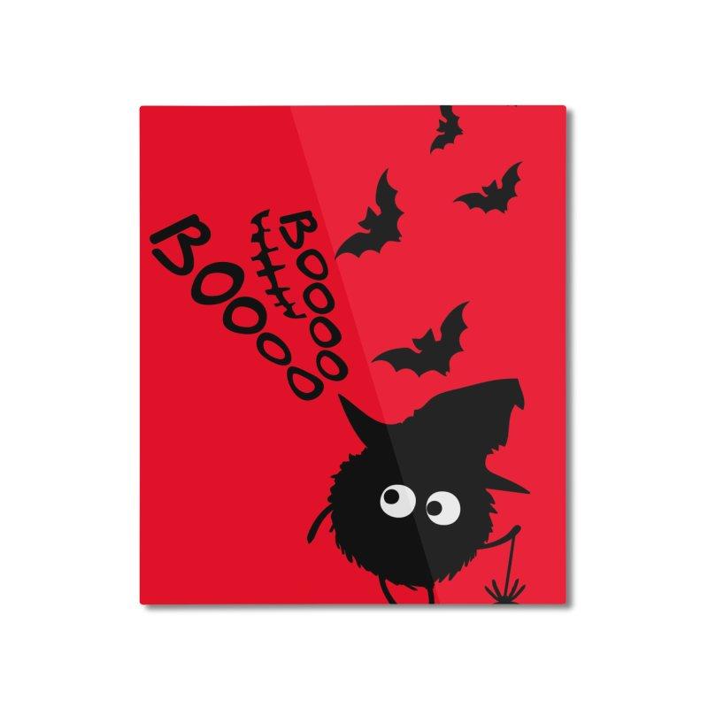BOO BOO Halloween Home Mounted Aluminum Print by cindyshim's Artist Shop