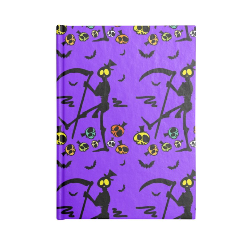 Colorful skulls Accessories Lined Journal Notebook by cindyshim's Artist Shop