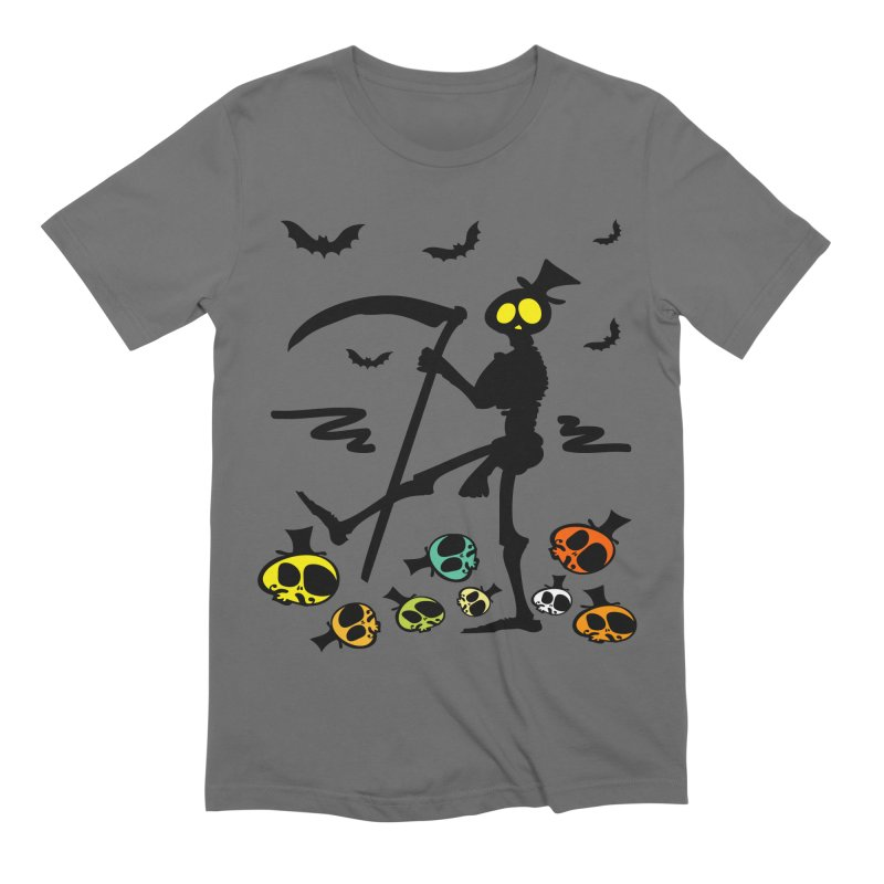 Colorful skulls Men's T-Shirt by cindyshim's Artist Shop