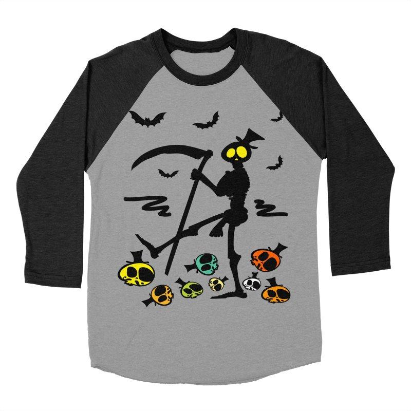 Colorful skulls Women's Baseball Triblend Longsleeve T-Shirt by cindyshim's Artist Shop