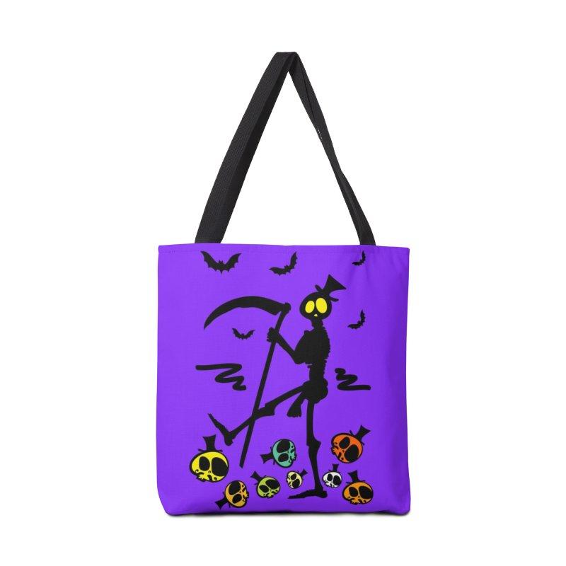 Colorful skulls Accessories Tote Bag Bag by cindyshim's Artist Shop